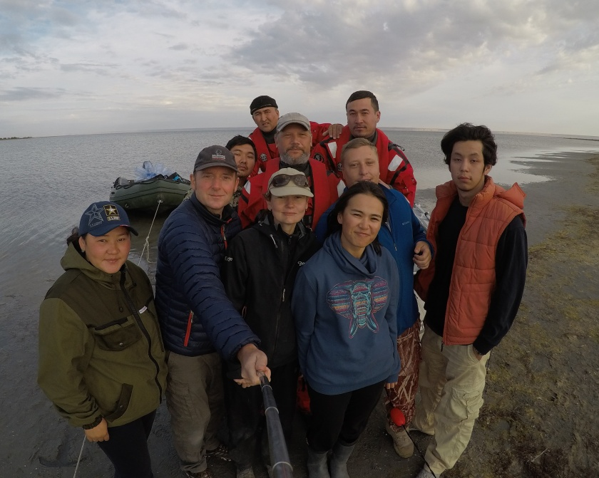 Caspian seal fieldwork team October 2017