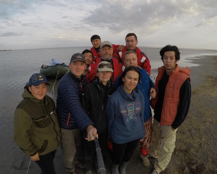 Caspian seal fieldwork team October 2017